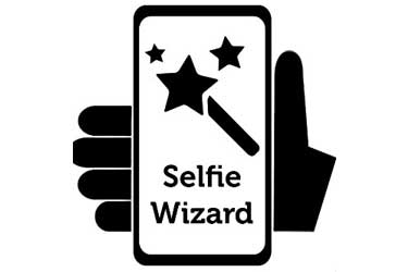 take pictures with the Selfie Wizard